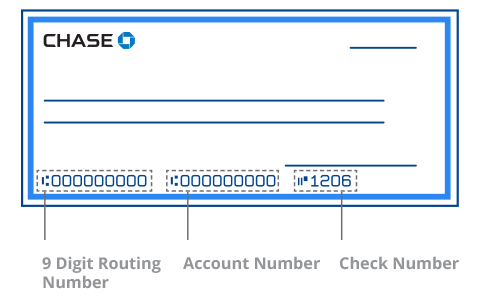Bank sample check with routing ABA number